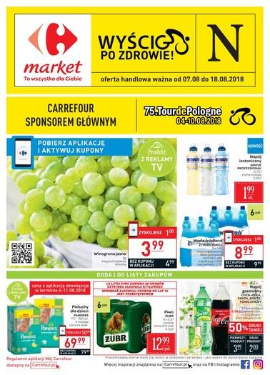 Gazetka promocyjna Carrefour Market, ważna od 07.08.2018 do 18.08.2018.