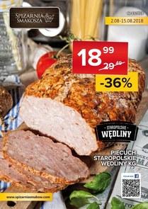 Gazetka promocyjna Spiżarnia Smakosza, ważna od 02.08.2018 do 15.08.2018.