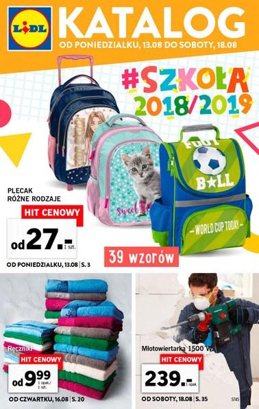 Gazetka promocyjna Lidl, ważna od 13.08.2018 do 18.08.2018.