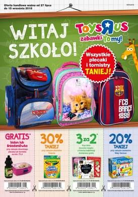 """Gazetka promocyjna Toys""""R""""Us - Witaj szkoło!"""