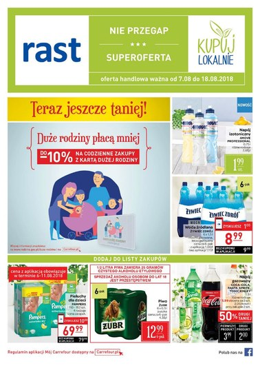 Gazetka promocyjna Rast, ważna od 07.08.2018 do 18.08.2018.