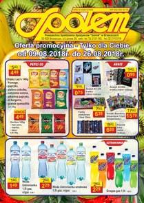 """Gazetka promocyjna PSS """"Górnik"""" Brzeszcze, ważna od 09.08.2018 do 26.08.2018."""