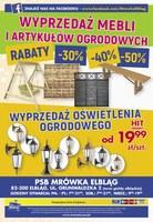 Gazetka promocyjna PSB Mrówka - Remontuj z nami - Elbląg