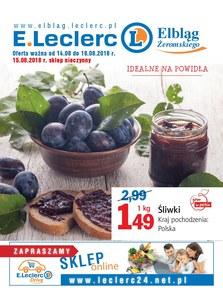 Gazetka promocyjna E.Leclerc, ważna od 14.08.2018 do 18.08.2018.