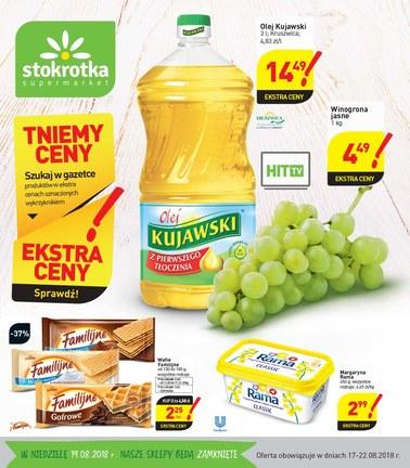 Gazetka promocyjna Stokrotka, ważna od 17.08.2018 do 22.08.2018.