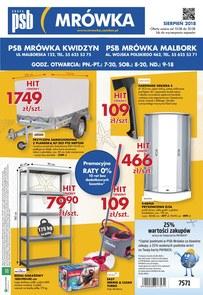 Gazetka promocyjna PSB Mrówka, ważna od 10.08.2018 do 30.08.2018.