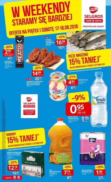Gazetka promocyjna Selgros Cash&Carry, ważna od 17.08.2018 do 18.08.2018.