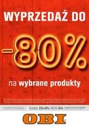 Gazetka promocyjna OBI - Wyprzedaż do -80%