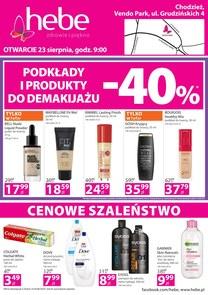 Gazetka promocyjna Hebe, ważna od 23.08.2018 do 26.08.2018.