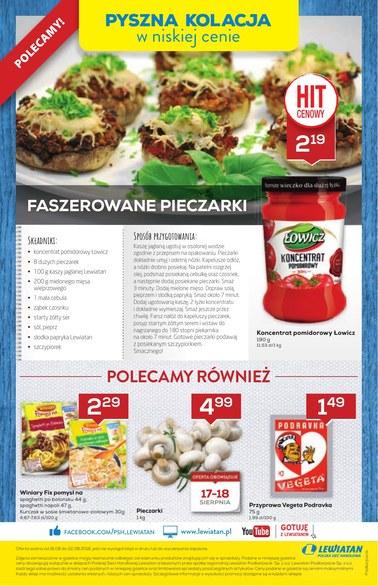 Gazetka promocyjna Lewiatan, ważna od 16.08.2018 do 22.08.2018.