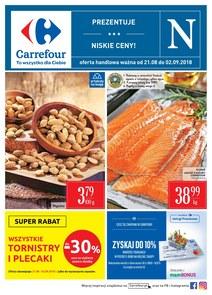 Gazetka promocyjna Carrefour, ważna od 21.08.2018 do 02.09.2018.