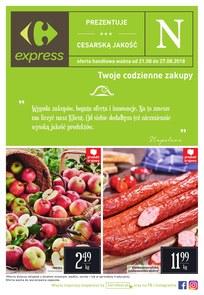 Gazetka promocyjna Carrefour Express, ważna od 21.08.2018 do 27.08.2018.