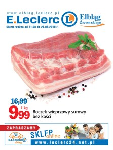 Gazetka promocyjna E.Leclerc, ważna od 21.08.2018 do 26.08.2018.