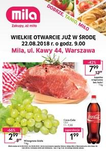 Gazetka promocyjna MILA, ważna od 22.08.2018 do 28.08.2018.