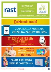 Gazetka promocyjna Rast, ważna od 21.08.2018 do 02.09.2018.