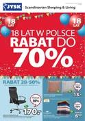 Gazetka promocyjna Jysk - 18 lat w Polsce - ważna do 05-09-2018