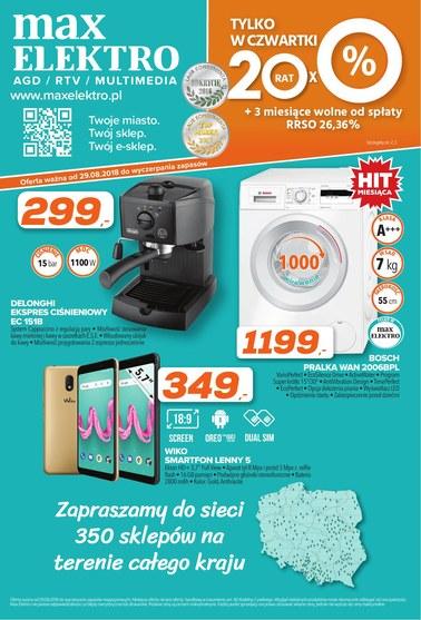 Gazetka promocyjna Max Elektro, ważna od 29.08.2018 do 30.09.2018.