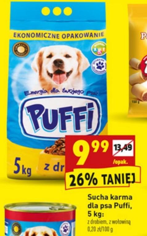 Genialny Archiwum | Sucha karma dla psa Puffi 5 kg - Biedronka 30. 08. 2018 BY28
