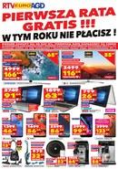 Gazetka promocyjna RTV EURO AGD - Pierwsza rata gratis!!!