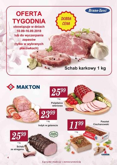 Gazetka promocyjna Społem WSS Śródmieście, ważna od 01.09.2018 do 30.09.2018.