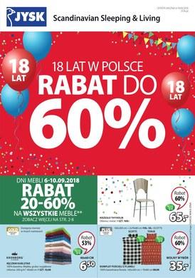 Gazetka promocyjna Jysk - Rabat do 60%