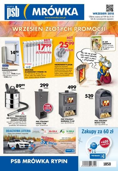 Gazetka promocyjna PSB Mrówka, ważna od 07.09.2018 do 21.10.2018.