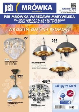 Gazetka promocyjna PSB Mrówka - Wrzesień złotych promocji - Warszawa Marywilska
