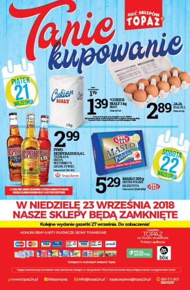 Gazetka promocyjna Topaz, ważna od 20.09.2018 do 26.09.2018.