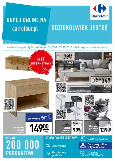 Gazetka promocyjna Carrefour, ważna od 11.09.2018 do 07.10.2018.