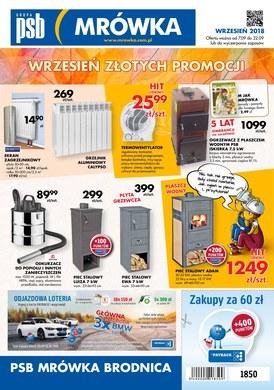 Gazetka promocyjna PSB Mrówka - Wrzesień złotych promocji - Brodnica