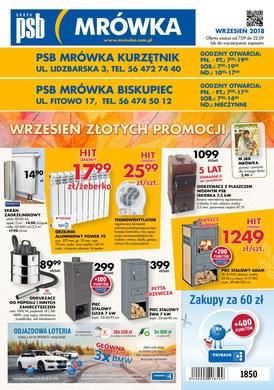 Gazetka promocyjna PSB Mrówka - Wrzesień złotych promocji - Kurzętnik, Biskupiec