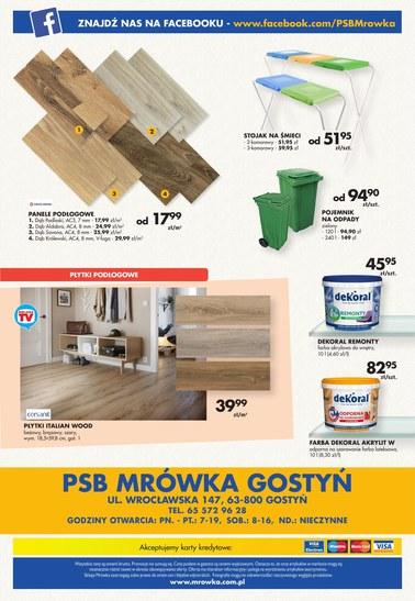 Gazetka promocyjna PSB Mrówka, ważna od 07.09.2018 do 22.09.2018.