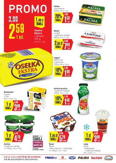 Gazetka promocyjna Intermarche Super, ważna od 18.09.2018 do 24.09.2018.