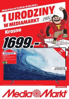 Gazetka promocyjna Media Markt - 1 urodziny w Media Markt - Krosno