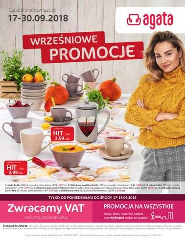 Gazetka promocyjna Agata , ważna od 17.09.2018 do 30.09.2018.