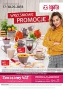 Gazetka promocyjna Agata  - Wrześniowe promocje - ważna do 30-09-2018