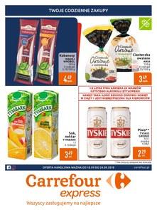 Gazetka promocyjna Carrefour Express, ważna od 18.09.2018 do 24.09.2018.