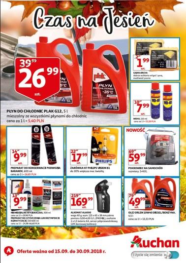 Gazetka promocyjna Auchan, ważna od 15.09.2018 do 30.09.2018.