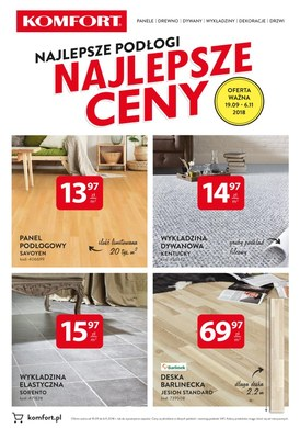 Gazetka promocyjna Komfort - Najlepsze podłogi najlepsze ceny