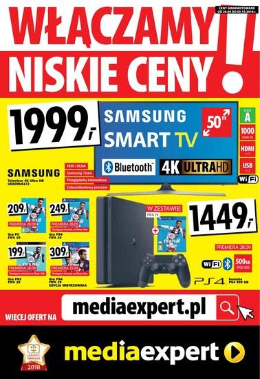 Gazetka promocyjna Media Expert, ważna od 20.09.2018 do 03.10.2018.