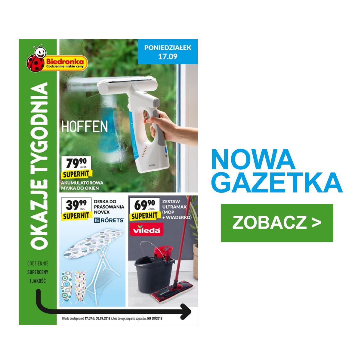 Gazetka Biedronka - Okazje tygodnia 17-30.09