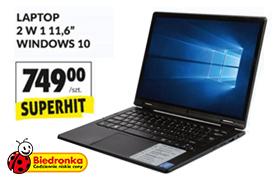 Okazje tygodnia w Biedronce - Laptop 2w1 za 749zł i nie tylko!