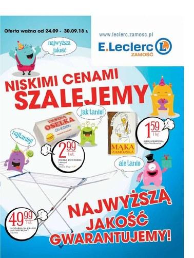 Gazetka promocyjna E.Leclerc, ważna od 24.09.2018 do 30.09.2018.