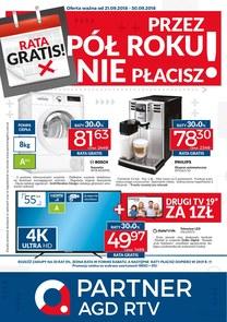 Gazetka promocyjna Partner AGD RTV , ważna od 21.09.2018 do 30.09.2018.