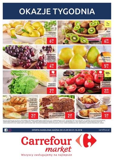 Gazetka promocyjna Carrefour Market, ważna od 25.09.2018 do 01.10.2018.