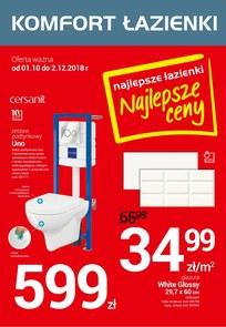 Gazetka promocyjna Komfort Łazienki, ważna od 03.10.2018 do 02.12.2018.