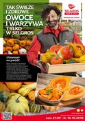 Gazetka promocyjna Selgros Cash&Carry - Tak świeże i zdrowe owoce i warzywa tylko w Selgros - ważna do 10-10-2018