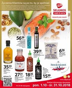 Gazetka promocyjna Selgros Cash&Carry, ważna od 01.10.2018 do 31.10.2018.