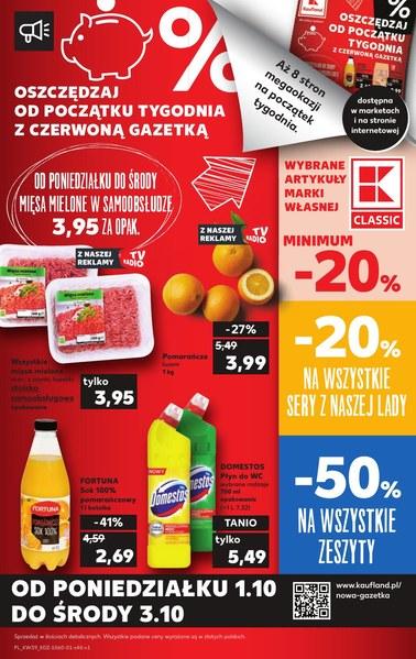 Gazetka promocyjna Kaufland, ważna od 27.09.2018 do 03.10.2018.