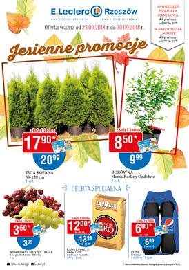 Gazetka promocyjna E.Leclerc - Jesienne promocje - Rzeszów